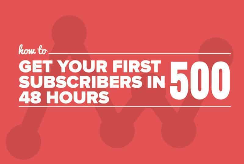 how to get 500 subscribers in 48 hours