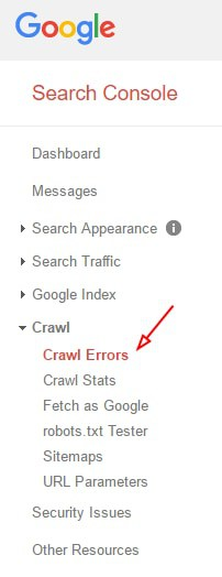 Google Webmasters Search Console Crawl Section