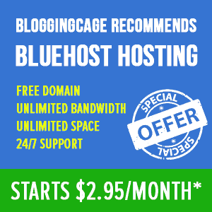 Bluehost BloggingCage Coupon