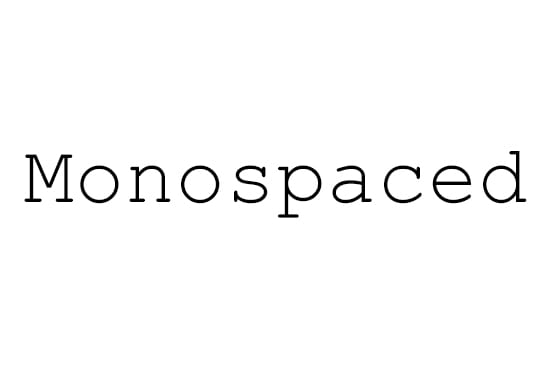 Monospaced-Typeface