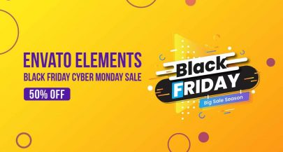 Envato Elements Black Friday Cyber Monday Sale 2019: 50% OFF