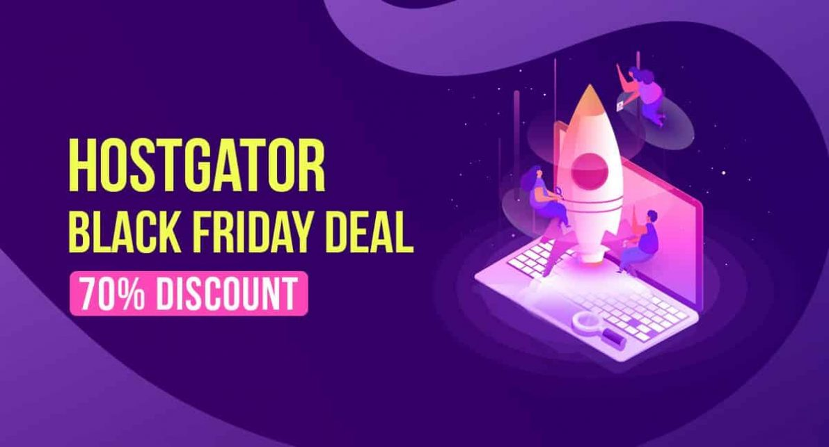 HostGator Black Friday Deal 2019: FREE Domain and 70% OFF