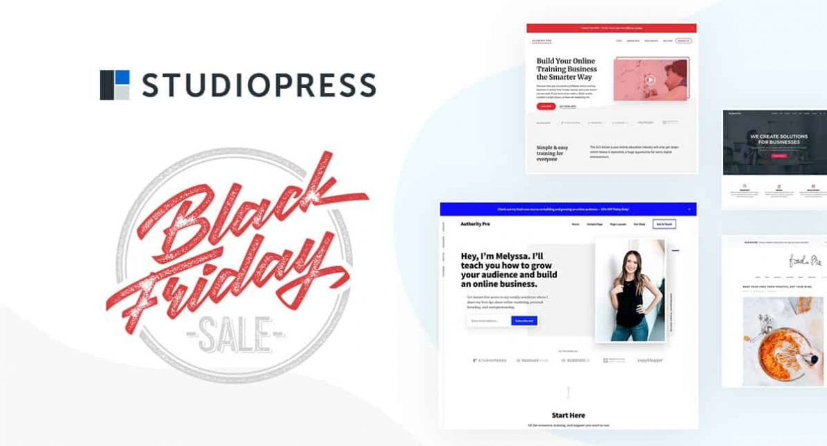 StudioPress Back Friday Deal 2020 Alert: 20% Off 4