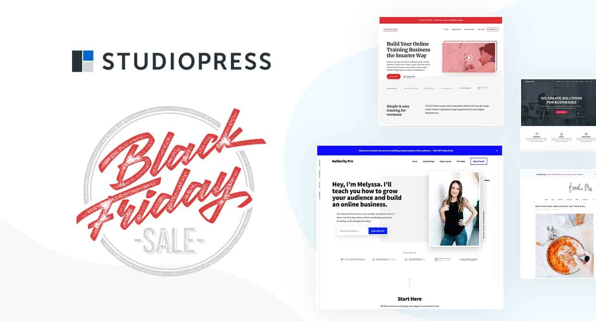 StudioPress Back Friday Deal 2020 Alert: 20% Off 21