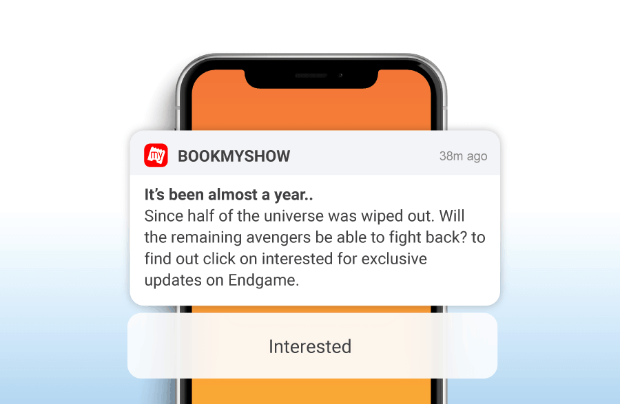 Image result for bookmyshow notifications