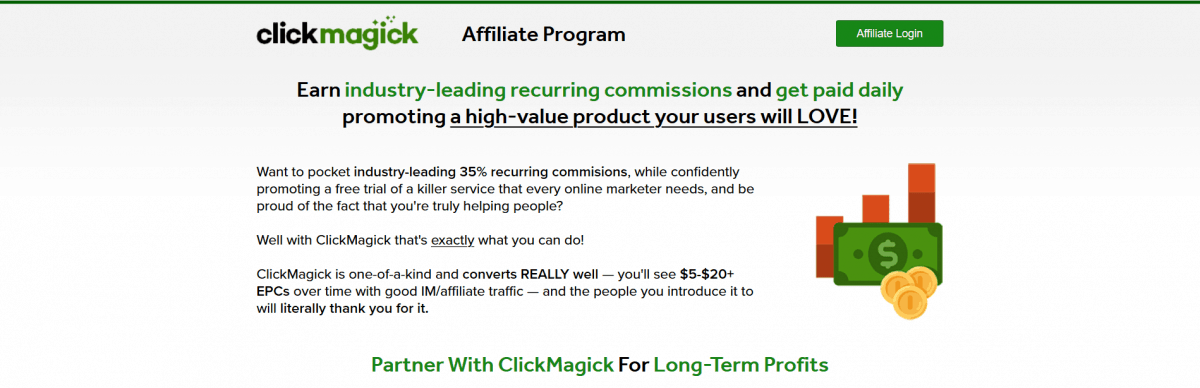 ClickMagick enables tools for tracking sales funnels