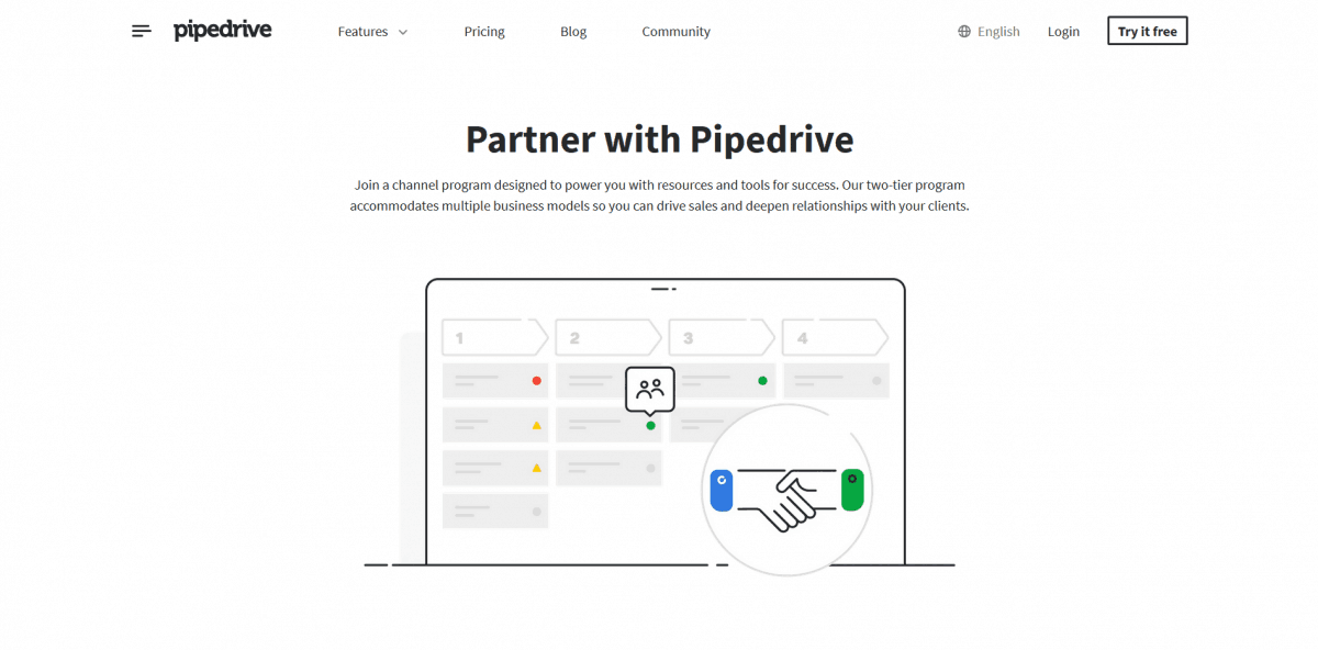 Pipedrive CRM pipelines leads into sales