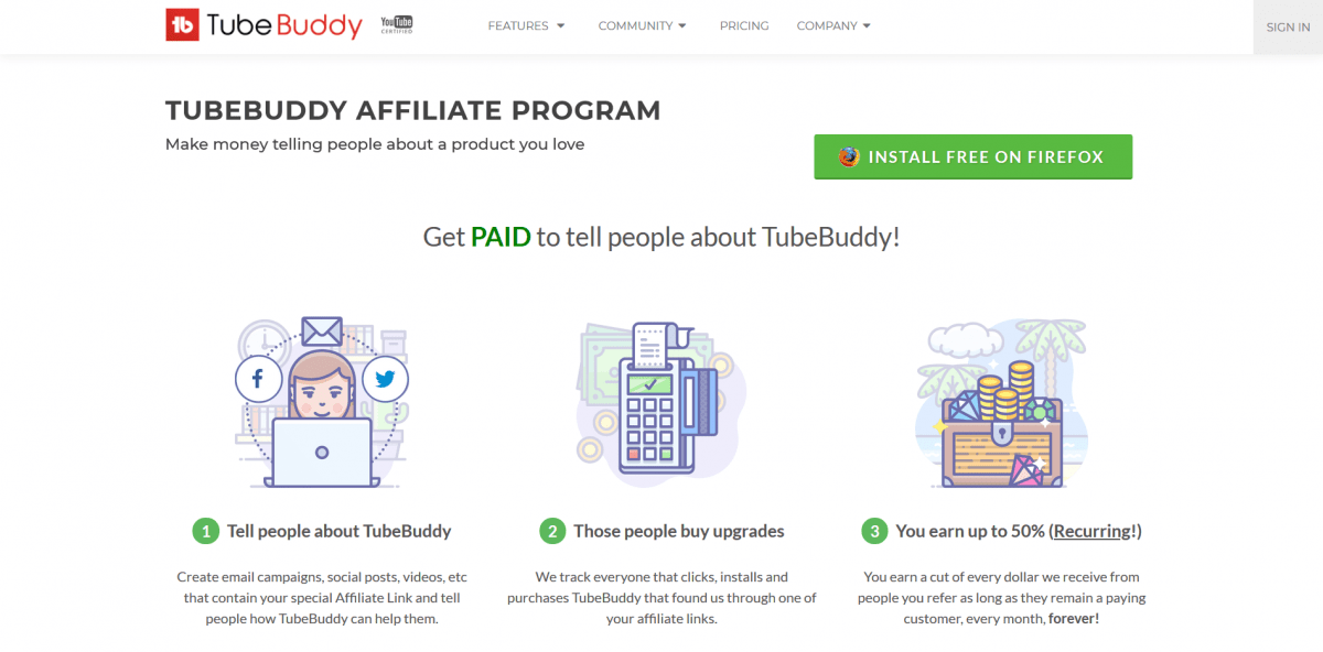 TubeBuddy is the perfect tool sparsely targeted by affiliate marketers