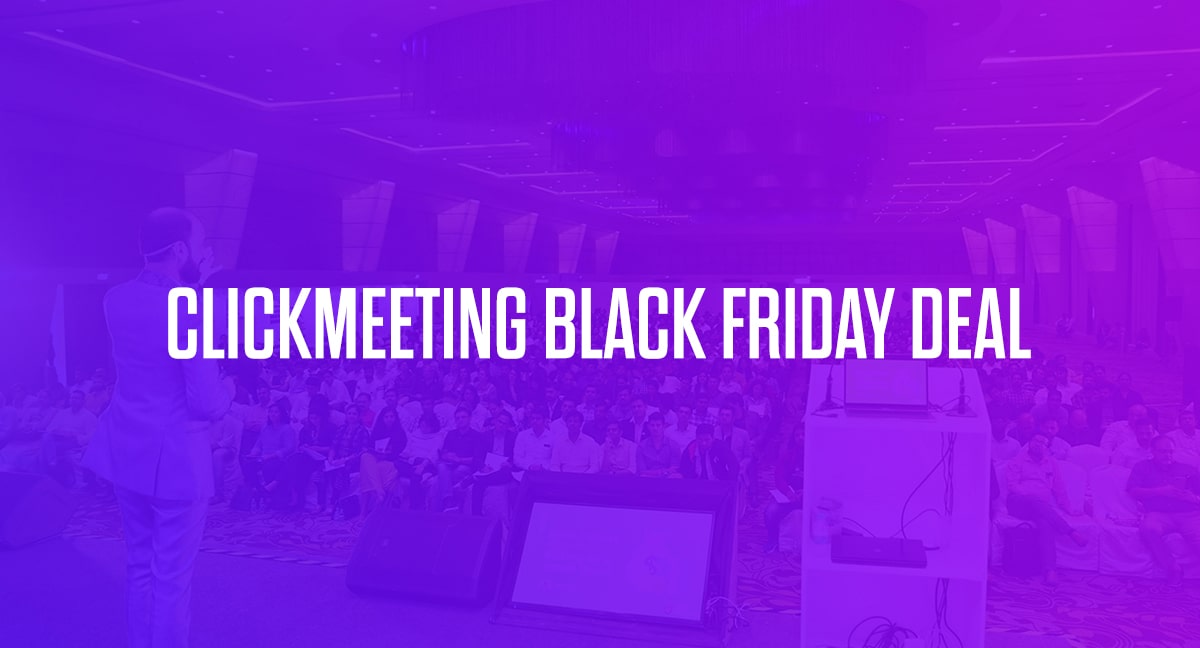 ClickMeeting Black Friday Deal 2020: 30% Discount